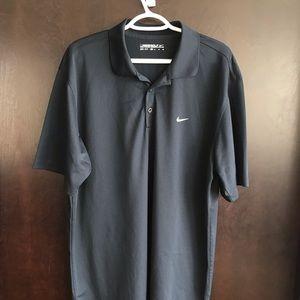 MENS Nike Golf Dri Fit Polo Navy Blue XL